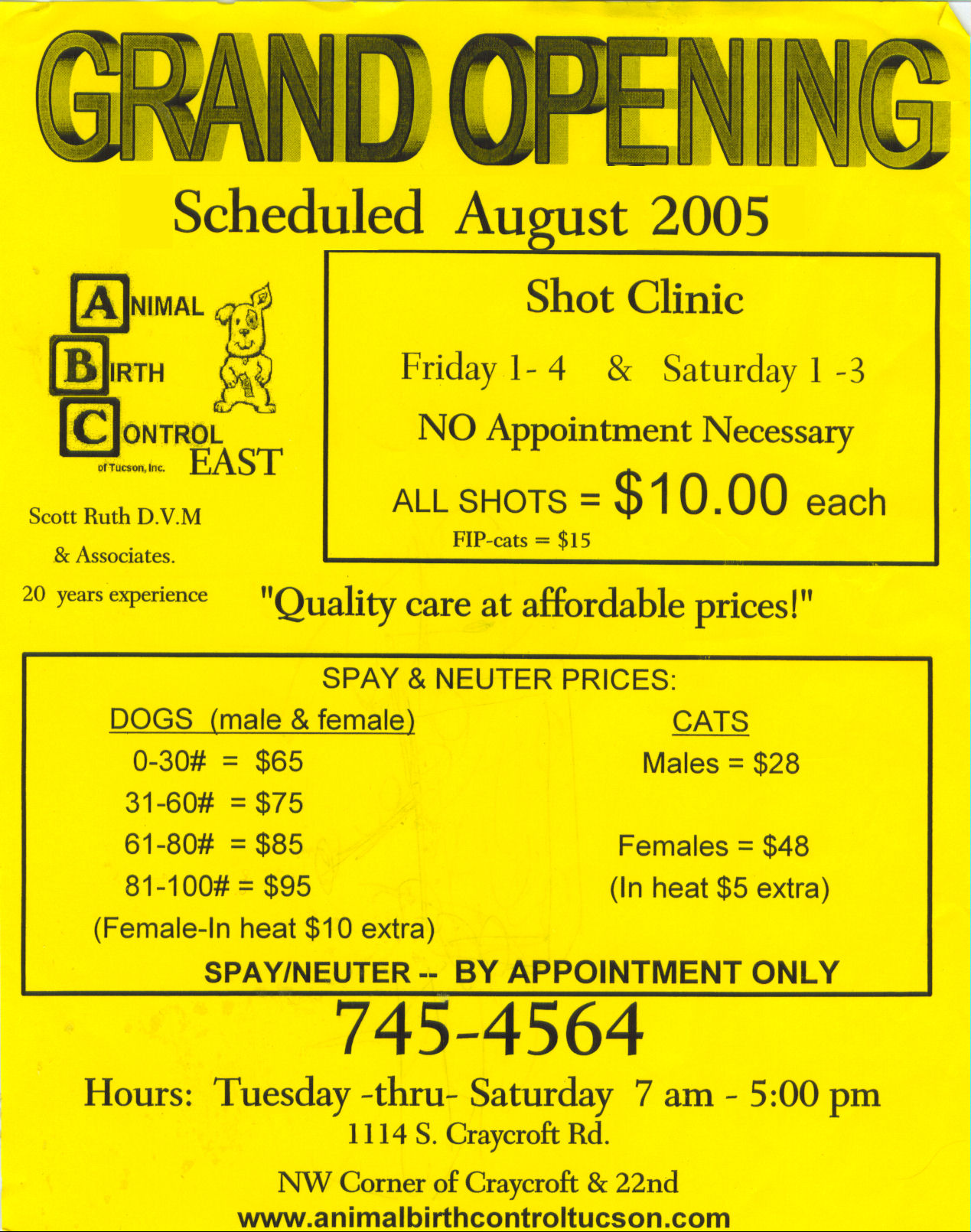 ABC Low Cost Pet Clinic